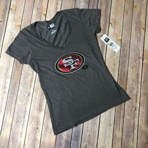San Francisco 49ers Football Grey Top Shirt NFL